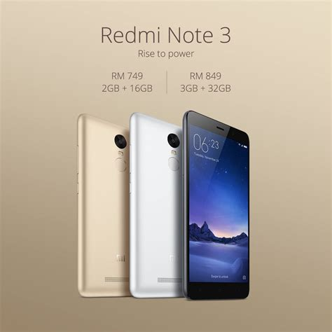 Hp Xiaomi Redmi Note 3 Di Lazada harga redmi note 3 di malaysia rm749 16gb dan rm849 32gb