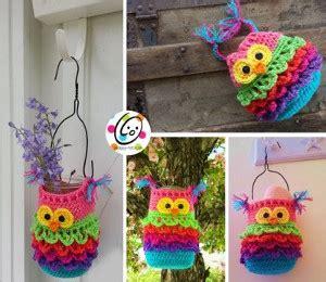 Miniatur One Isi 3 800115050 hanging owl crochet container allfreecrochet