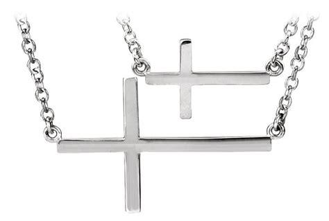 sterling silver sideways cross necklace 2020