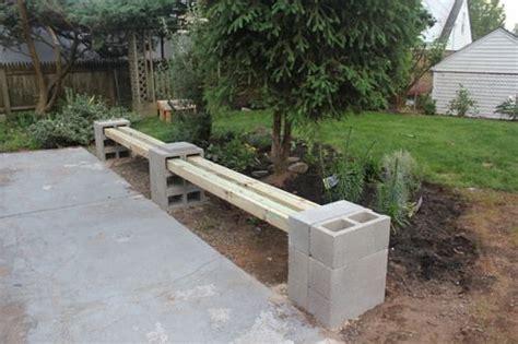 cinder block bench diy diy cinder block bench back front yard pinterest