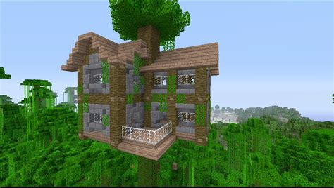 minecraft tree houses how to build a large jungle tree house in minecraft youtube
