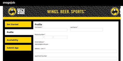 Buffalo Wings Application Process Buffalo Wings Application Apply