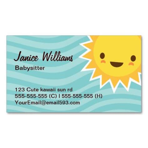 babysitting card template 17 best images about babysitting business cards on