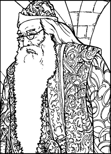 harry potter coloring pages dumbledore coloriage a imprimer albus dumbledore gratuit et colorier