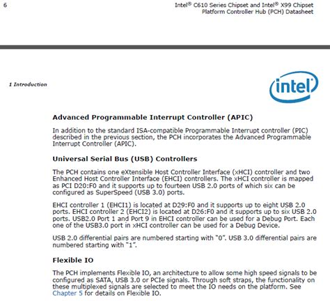 Intel Pch Datasheet - asrock x99 and usb 3 0 2 0 and the ehci xhci host controllers