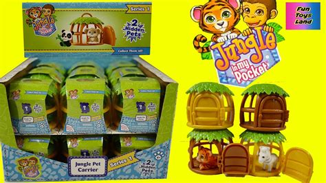 jungle in my pocket jungle pet carrier opening toys