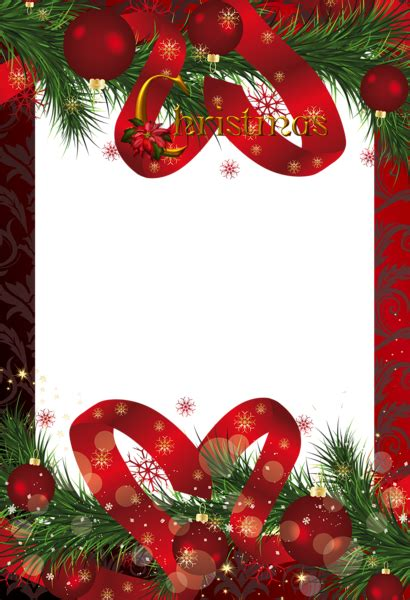 red christmas frame gallery yopriceville high quality images  transparent png  clipart