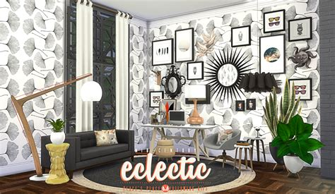 sims 4 set cc my sims 4 blog updated mid century eclectic object set by