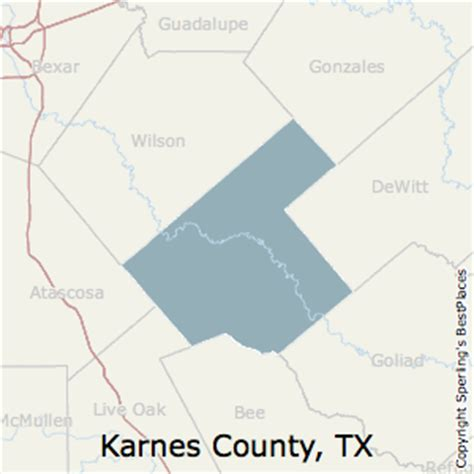 real county texas map best places to live in karnes county texas