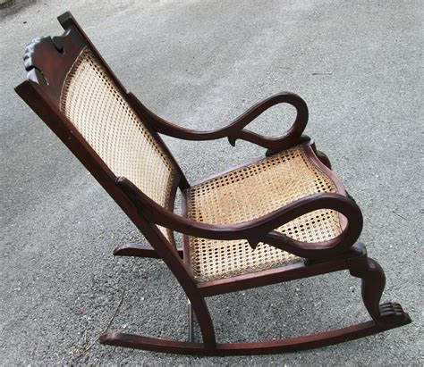 antique back rocking chairs antique barbados mahogany rocking chair with caned bottom