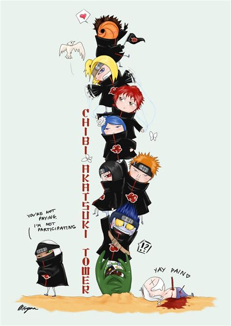 Kaos Deidara Akatsuki Chibi Boruto Anime 41 best shippuden akatsuki chibi images on