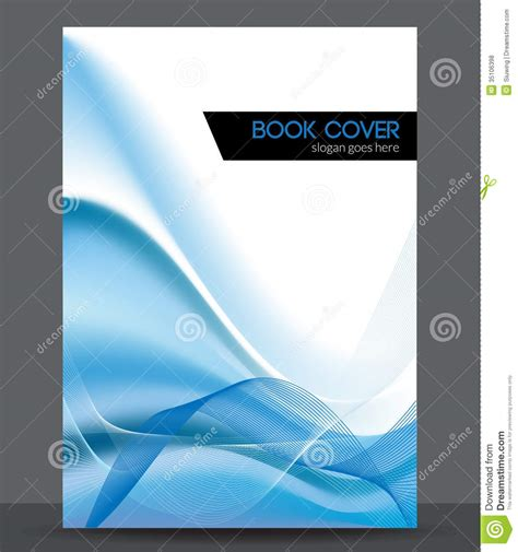 booklet design template blue wave vector brochure booklet cover design t stock