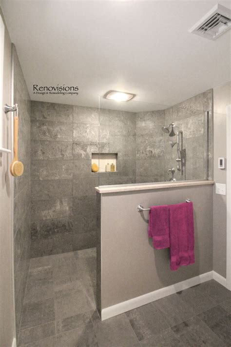 Walk In Shower Wall Options Best 25 Open Showers Ideas On Small Bathroom