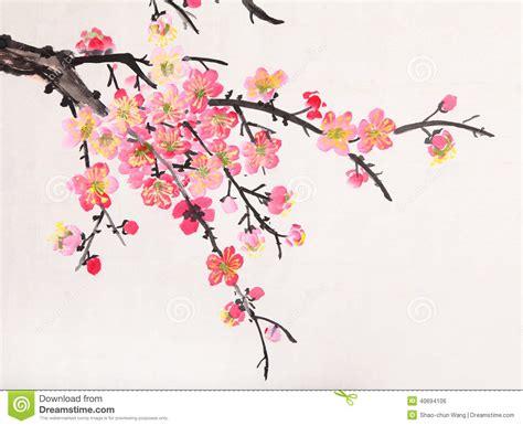 Poppy Wall Sticker peinture chinoise des fleurs fleur de plomb photo stock
