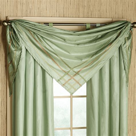 how to drape window scarves scarf curtain ideas 7487