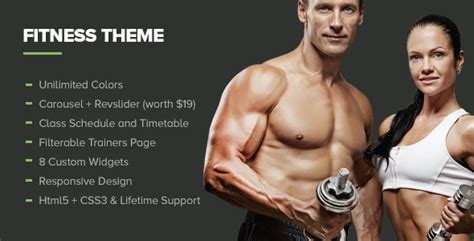 themeforest fitness fitness gym wordpress theme wordpress themeforest