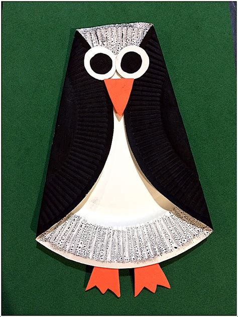 How To Make A Paper Plate Penguin - crafty crafted crafts for children