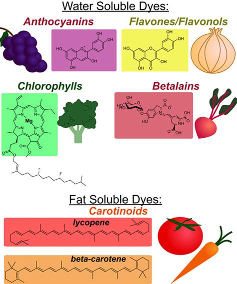 food chemical pigments names the color chemistry of food practically science