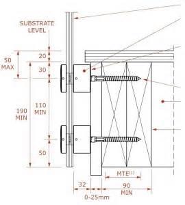 Handrail Standard Height Balustrade Fixings Methods Guide Canterbury Balustrades