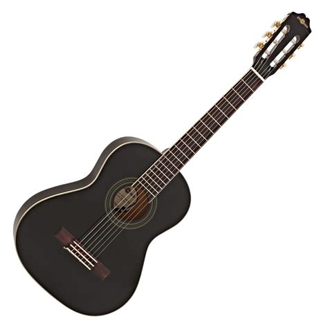 Guitar Black deluxe 3 4 classical guitar black by gear4music na