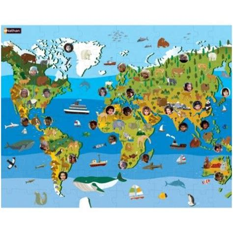 Animal World 1324 children of the world puzzle discover continents plants