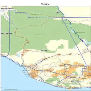 ventura county ca california maps map of california