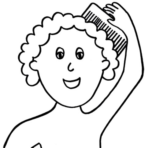 washing hair coloring pages full page image with words free picture exchange