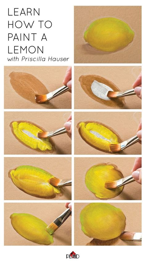 acrylic painting how to step by step 25 best ideas about lemon on diy painting