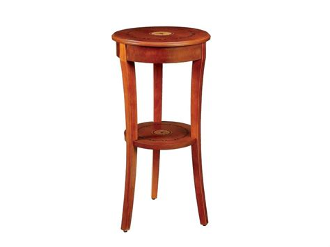tall accent table marquetry inlaid tall round wood accent table pedestal ebay