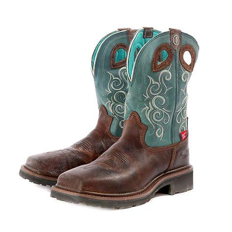 tony lama womens boots tony lama saddleback brown 3r work s boot