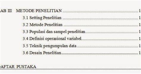 format makalah bab 2 cara membuat skripsi bab iii