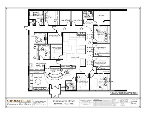 physical therapy clinic floor plans chiropractic office floor plan multi doctor office physical medicine and active therapy 4263
