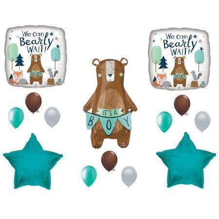 bearly wait baby   boy shower balloons