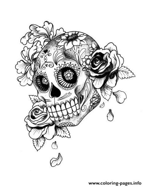 cute skull coloring pages print adult halloween sugar skull coloring pages cute