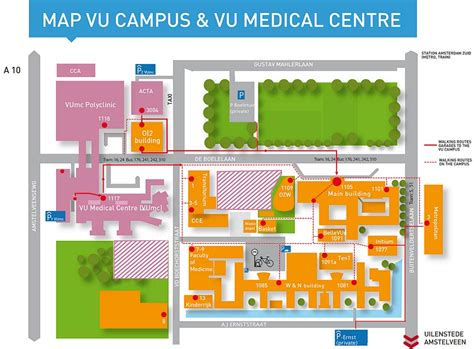 Find Floor Plans Online interactive map campus vu university amsterdam route