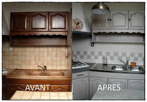 Relooking Meuble En Bois 2000 by Relooker Sa Cuisine Avant Apres