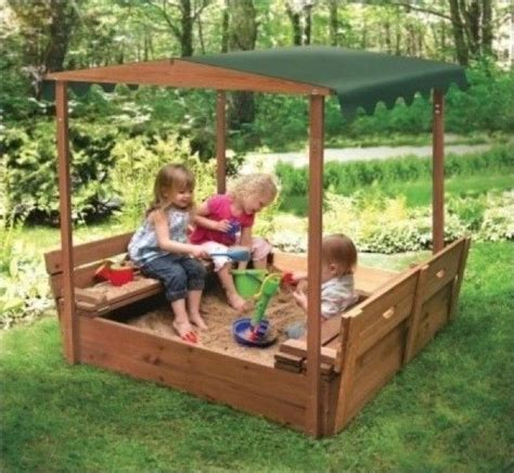Sandbox For Backyard by Outdoor Covered Playset Childrens Sandbox Bench Seats