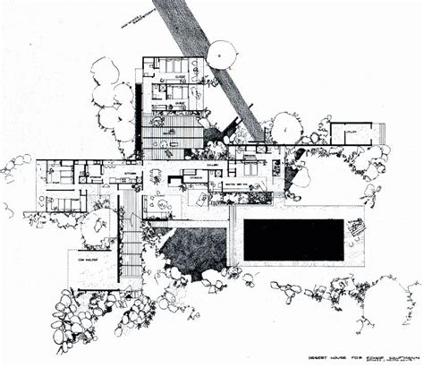desert house plans richard neutra kaufmann house floor plan palm springs richard neutra house and