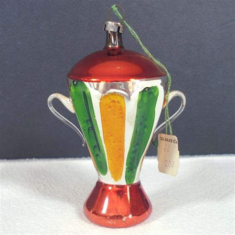 german blown glass urn trophy vase christmas ornament from