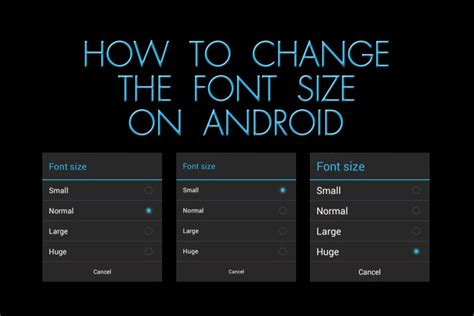 change  font size  android  blind life