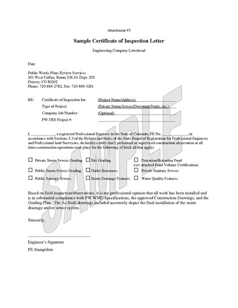 sle certification letter for vaccination roof inspection letter template denver roof repair