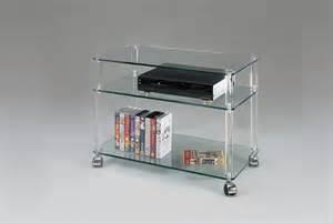 meuble tv en verre et plexiglas