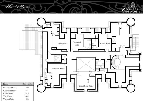 Chateau Floor Plans by Floor Plans Chateau Cocomar Luxamcc