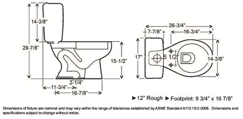 size of toilet toilet dimensions search dimensions