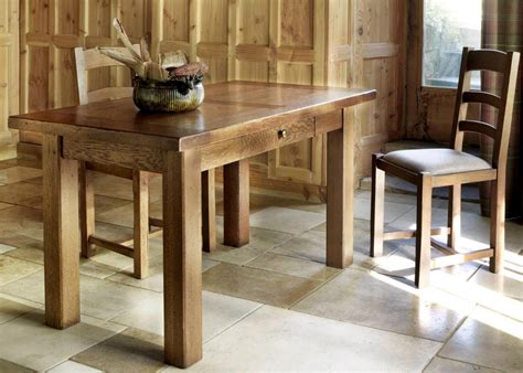 Kitchen Tables With Drawers Michel Small Kitchen Table With Drawer From Tannahill Furniture Ltd