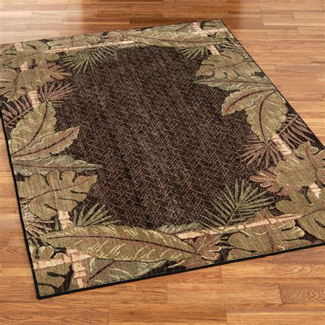 Pet Friendly Sarasota Tropical Leaf Area Rugs Tropical Rugs