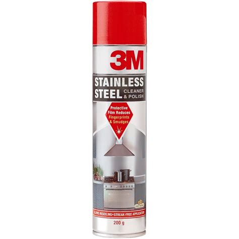 stainless steel wax 3m stainless steel cleaner polish 200g bunnings warehouse