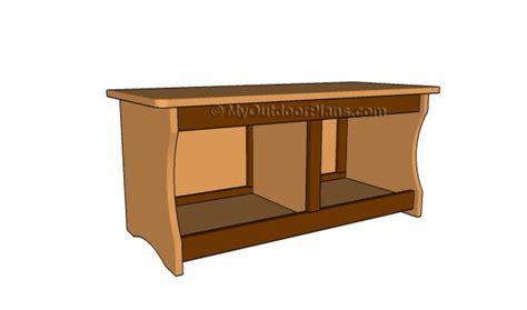 storage bench plans myoutdoorplans  woodworking