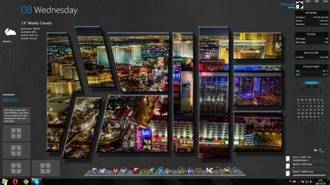 themes windows 10 skin las vegas uhd windows theme rainmeter by ellord333 on