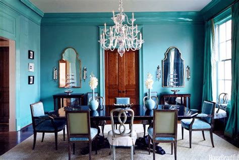 house beautiful dining rooms turquoise dining room eclectic dining room glidden seven lakes house beautiful